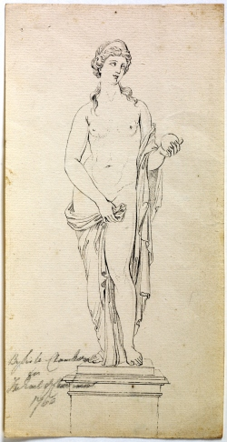 Giovanni Battista Cipriani (1727–1785) Venus Revised (1767) Private Collection Pencil, pen and black ink , 25 x 12 cm
