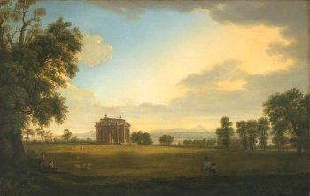 Thomas Roberts (1748–1777) A Landscape with the Casino at Marino (1773) Facsimile. Details of original: Oil on canvas, 62 x 96 cm
