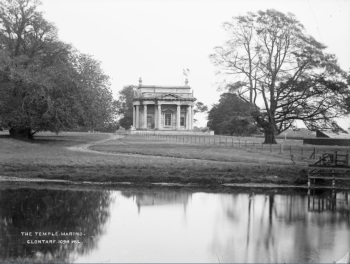 Lawrence Collection The Temple, Marino, Clontarf (with lake) (late nineteenth century) Facsimile . Details of original: Photograph, 22 x 17 cm. National Library of Ireland