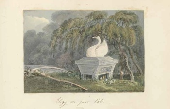 Cecilia Margaret Campbell (1791–1857), Monument to Poor Cob (c. 1816), Facsimile. Details of original: Watercolour, 20 x 26.6 cm. Paul Mellon Collection, Yale Center for British Art