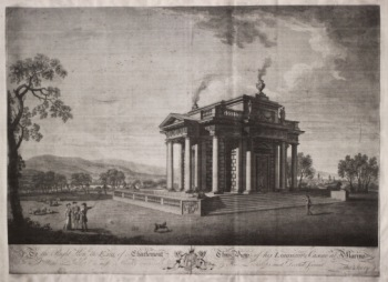 Edward Rooker (c. 1712–1774) after Thomas Ivory (c. 1732–1786) View of his Lordship's Casine at Marino (c. 1774) Ink on paper, 62.5 x 46.5 cm, Private Collection.