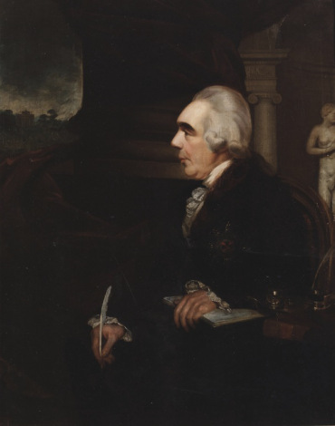 William Cuming (1769–1852) (attrib.) James, Earl of Charlemont, First President 1785-1799 Facsimile. Details of original: Oil on canvas, 127 x 103 cm, Royal Irish Academy.
