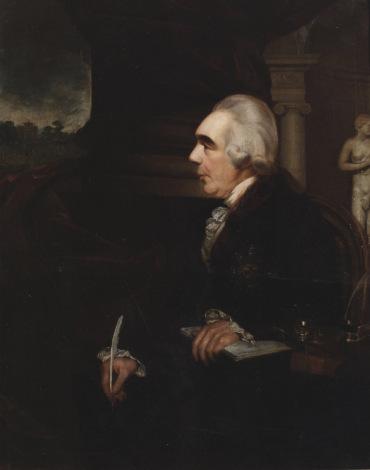 William Cuming (1769–1852) (attrib.) James, Earl of Charlemont, First President 1785-1799 Facsimile. Details of original: Oil on canvas, 127 x 103 cm, Royal Irish Academy.