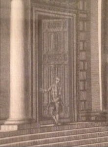 Detail from Edward Rooker (c. 1712–1774) after Thomas Ivory (c. 1732–1786)  View of his Lordship's Casine at Marino (c. 1774) Ink on paper, 62.5 x 46.5 cm, Private Collection.